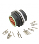 Mating connector assembly for HD26-24-23PN
